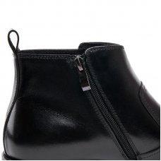QYFCIOUFU Autumn Winter Mens Genuine Leather Men's Dress Boots Pointed Toe Zipper Ankle Boots Luxury Men Chelsea Boots Shoes