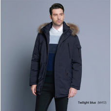 Warm Winter Raccoon Fur Hooded Coat | Luxury Detachable Fur Turtleneck Windproof Hooded Jacket | Very Comfortable
